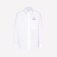 White Long Sleeve Shirt With Logo - KG1-KG2